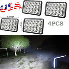 "4 Pcs 4""x6"" 15 LED Headlights H4 Hi Low Beam Replace H4656/4651 Sealed Bright"