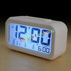 Digital Alarm LED Clock Snooze Light Control Backlight Time Calendar Thermometer