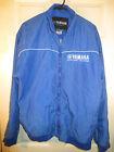 Vintage Yamaha Factory Racing Mens Fleece Lined Jacket Coat Blue & White Size L