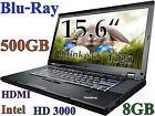 """Thinkpad T520 15.6""""  (Blu-Ray BD-R NEW 500GB 8GB-RAM) Webcam HDMI"""