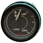 Faria  Mercury Trim Gauge  Black Face GP7306D Illuminated 12 v