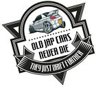 Old Jap Cars Never Die Slogan & Koolart Retro White Mitsubishi FTO Car Sticker