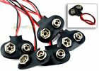 5 pc 9V Battery Connector Snap Clip Wire Lead 9 Volt Holder NEW Set of five