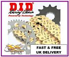 LEXMOTO ADRENALINE 125 Gold Chain & Sprocket DID Kit - FREE CHAIN LUBE