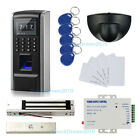 Fingerint RFID security entry systems Kit with 280kg Mag lock+Exit Motion Sensor