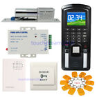 Color LCD Fingerprint Security Access Time Attendance System Kit with Bolt  Lock