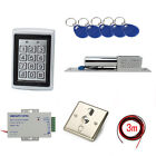 Metal Case RFID Access Entry Systems Kits Electric Bolt Lock 110-240V Power Box
