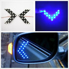 2x Blue Arrow Indicator Embedded Side Marker Rearview Mirror Turn Signal Lights