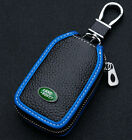 Cowhide leather Car Key Holder Keychain Ring Case Bag shell Fit For Land rover