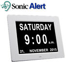 "Sonic Alert Extra Large 8"" Digital Calendar Clock Day & Time Visually DT1000"