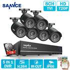 SANNCE 5in1 1080N 8CH DVR 6x 1500TVL Outdoor IR Camera Security System 1TB APP