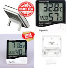 LCD Digital Display Thermometer Hygrometer Indoor Electronic Temperature Clock