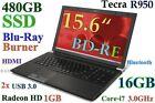 "(3D-Design) TOSHIBA Tecra R950 i7 (BD-RE 480GB-SSD 16GB) 15.6"" RADEON USB-3.0"