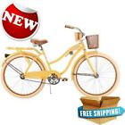 "26"" Huffy Womens Nel Lusso Cruiser Bike Yellow Outdoor Bicycle Ride on Sports"