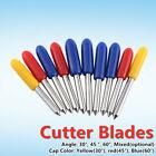 10 Pcs 30°/45°/60° Vinyl Cutter Offset Blades For Roland Cricut Cutting Plotter