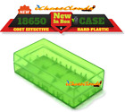 4 pcs GREEN PLASTIC STORAGE CASE HOLDER BOX For 18650 16340 CR 123A BATTERY