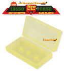 4 pcs YELLOW PLASTIC STORAGE CASE HOLDER BOX For 18650 16340 CR 123A BATTERY