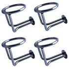 4Pcs Boat Ring Cup Holder Stainless Steel Ringlike Drink Holder For Marine Yacht