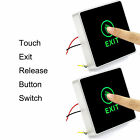 2x Touch Exit Release Button Switch for Door Access Control Set LED Indicator US