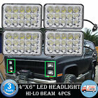 "For Chevrolet Blazer H4651 H4652 H4656 H4666 4''X6"" LED Headlight 4Pcs Hi-Lo"
