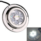 SS316 Surface Mount Underwater Boat Light 12W LED Color Cool White 5500 - 6300K