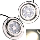 2Lots 6*2W LED STAINLESS STEEL MARINE UNDERWATER LIGHT BOAT FISH SURFACE MOUNT