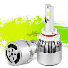 LED LESS ENERGY USAGE 6000K 6K LIGHT LAMP 9006 UPGRADE REPLACEMENT BULBS w/FAN