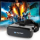 Virtual Reality VR Headset 3D Glasses Cardboard Remote for Movie Video Game Box