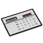 Solar Pocket Card Size Slim LCD Mini Calculator