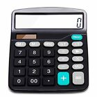 Calculator Electronic Desktop with 12 Digit Large LCD Display Solar Battery