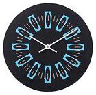 Radial Blocks Clock - Black