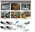 4 PCS Dummy Wall Security Camera Fake Indoor Outdoor Security Safe W LED Lights