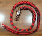 Motorcycle Get Back Biker Whip USA Made With Panic Clip Orange and Silver 1%