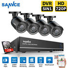 SANNCE 720P In/Outdoor Security Camera System 4CH 1080N CCTV DVR 1TB HDD Alarm