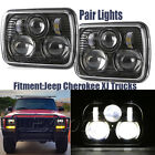 "2PC Black 5"" X 7"" LED Headlight Replacement for Jeep Cherokee XJ Trucks 5*7"""