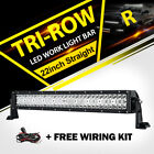 "TRI-ROW 960W CREE 22""Inch Combo LED Work Light Bar Flood Spot Driving 20''24""12"""