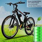 "25""Folding Black Electric Mountain Bicycle Ebike Lithium 250W LED headlamp Black"