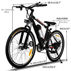 "25"" Folding Electric Mountain Bike Bicycle Ebike W/ Lithium Battery 250W Black"
