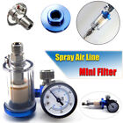 1/4''Small Filter Water Spraygun Air Line Trap Clear Painting Moisture Separator