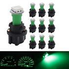 10*Green Socket T3 T5 37 70 1-SMD 5050 LED Dashboard Instrument Cluster Light