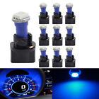 10* Blue Socket T3 T5 37 70 1-SMD 5050 LED Dashboard Instrument Cluster Light