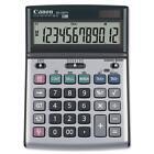 Canon 12-Digit Desktop Calculator Tilt Adj. LCD Dual pwr Beige BS1200TS