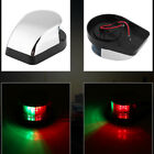 Stainless Steel Bi Color LED Boat Marine Yacht Bow Navigation Light Waterproof