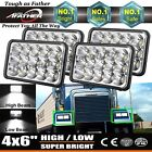 4''x6'' LED Headlights H4 Plug High Low Beam For Freightliner Classic 2002-2010