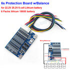 6S 24V Li-ion 18650 Lithium Battery Packs BMS Protection PCB Board w/ Balance