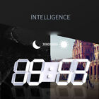 Light-control Induction 3D LED Digital Wall Alarm Clock with Temperature Display
