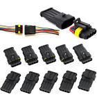 10x Superseal Headlight Waterproof Electrical Car Connector Kit Plug Connector