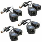 4 Pairs CCTV Coax BNC Video Power Balun Transceiver to CAT5e 6 RJ45 Connector!!
