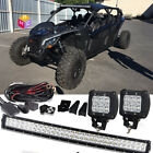 """Adly Moto 30"""" inch Double Curved LED Light Bar+CUBE+HARNESS ATK Aeon AlphaSports"""