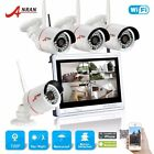 720P 4CH NVR 12''LCD Monitor Wireless Home Security System CCTV Camera Outdoor